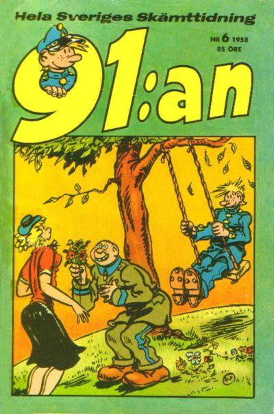 Cover for 91:an (Åhlén & Åkerlunds, 1956 series) #6/1958