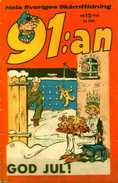 Cover for 91:an (Åhlén & Åkerlunds, 1956 series) #12/1958
