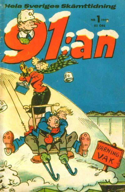 Cover for 91:an [delas] (Åhlén & Åkerlunds, 1956 series) #1/59