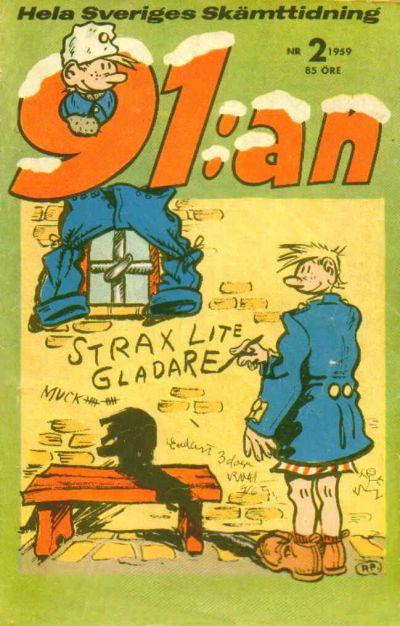 Cover for 91:an (Åhlén & Åkerlunds, 1956 series) #2/1959