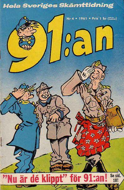 Cover for 91:an (Åhlén & Åkerlunds, 1956 series) #4/1961