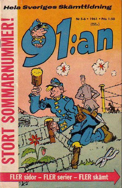 Cover for 91:an (Åhlén & Åkerlunds, 1956 series) #5-6/1961
