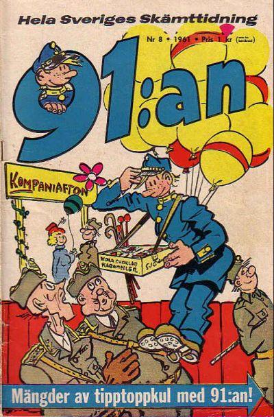 Cover for 91:an [delas] (Åhlén & Åkerlunds, 1956 series) #8/61