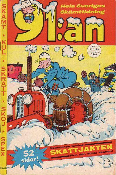 Cover for 91:an [delas] (Åhlén & Åkerlunds, 1956 series) #1/1964