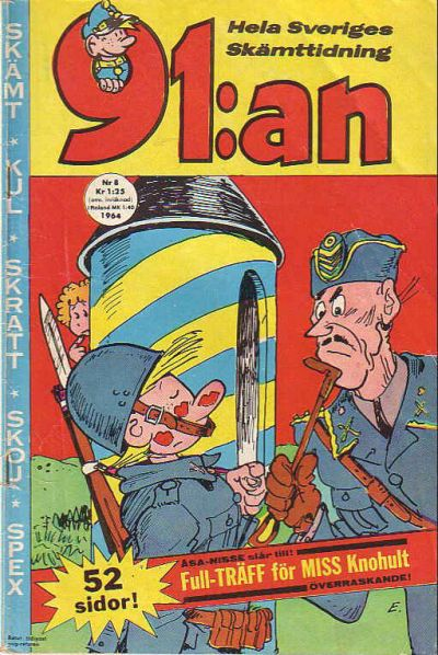 Cover for 91:an [delas] (Åhlén & Åkerlunds, 1956 series) #8/1964