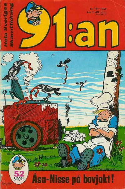 Cover for 91:an (Semic, 1965 ? series) #16/1968