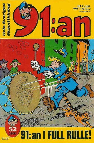Cover for 91:an [delas] (Åhlén & Åkerlunds, 1956 series) #9/1969