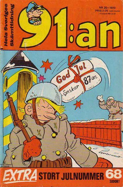 Cover for 91:an [delas] (Åhlén & Åkerlunds, 1956 series) #25/1970