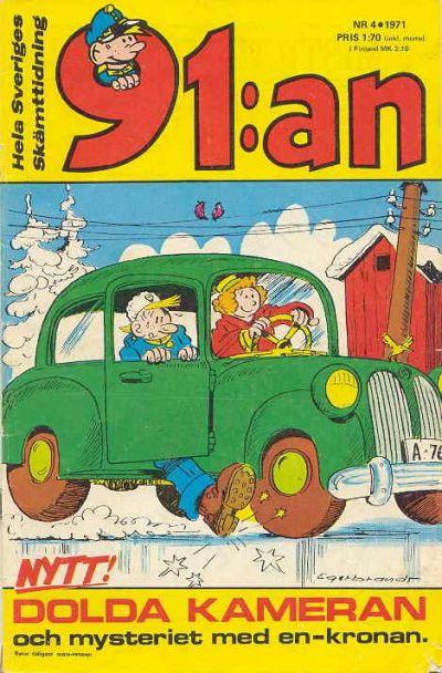 Cover for 91:an [delas] (Åhlén & Åkerlunds, 1956 series) #4/1971
