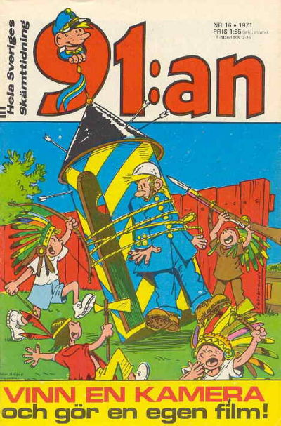 Cover for 91:an [delas] (Åhlén & Åkerlunds, 1956 series) #16/71