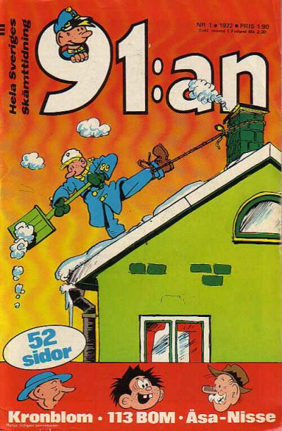 Cover for 91:an (Semic, 1965 ? series) #1/1972