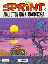 Cover Thumbnail for Sprint (Semic, 1986 series) #20 - Amuletten fra Nikokolokoba [2. opplag]