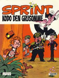 Cover Thumbnail for Sprint (Semic, 1986 series) #23 - Kodo den grusomme [2. opplag]