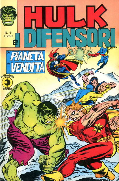 Cover for Hulk E I Difensori (Editoriale Corno, 1975 series) #5