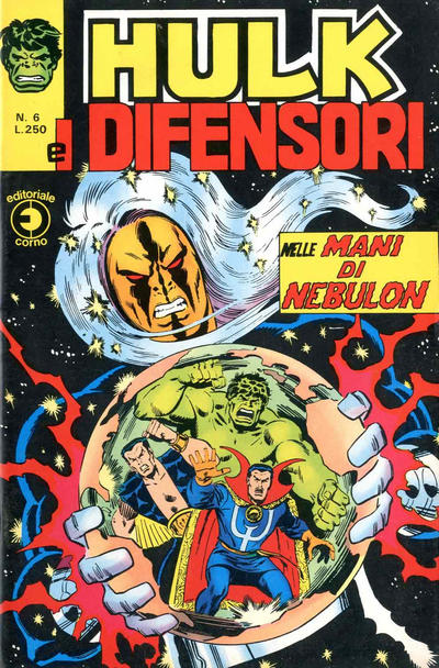 Cover for Hulk E I Difensori (Editoriale Corno, 1975 series) #6
