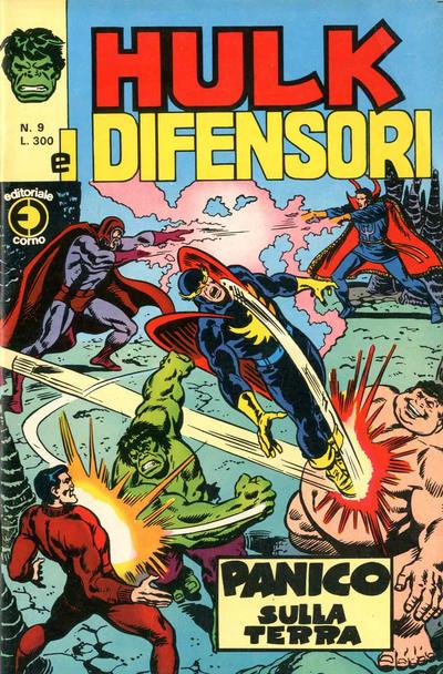 Cover for Hulk E I Difensori (Editoriale Corno, 1975 series) #9