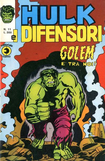 Cover for Hulk E I Difensori (Editoriale Corno, 1975 series) #11