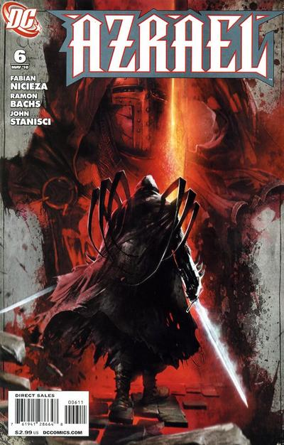 Cover for Azrael (DC, 2009 series) #6