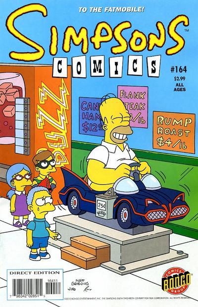 Cover for Simpsons Comics (Bongo, 1993 series) #164