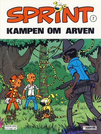 Cover for Sprint (Semic, 1986 series) #7 - Kampen om arven