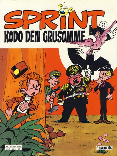 Cover for Sprint (Semic, 1986 series) #23 - Kodo den grusomme [2. opplag]