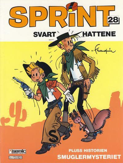 Cover for Sprint (Semic, 1986 series) #28 - Svarthattene [1. opplag]