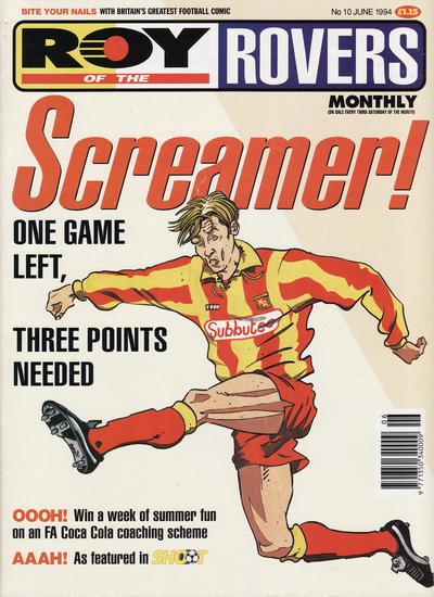 Cover for Roy of the Rovers Monthly (Fleetway Publications, 1993 series) #10