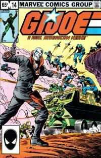Cover Thumbnail for G.I. Joe, A Real American Hero (Marvel, 1982 series) #14 [Second Print]