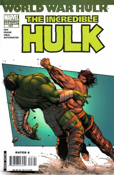 Cover for Incredible Hulk (Marvel, 2000 series) #107 [Second Printing]