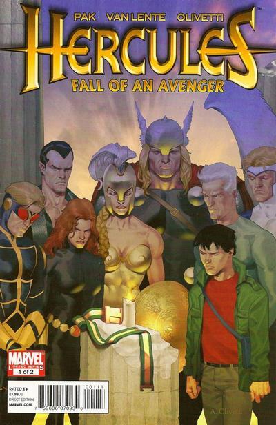 Cover for Hercules: Fall of an Avenger (Marvel, 2010 series) #1