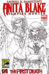 Cover for Anita Blake Vampire Hunter: The First Death (Marvel, 2007 series) #1 [Comicon Sketch variant cover]
