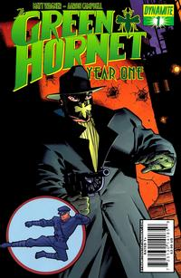 Cover Thumbnail for Green Hornet: Year One (Dynamite Entertainment, 2010 series) #1 [Cover B Matt Wagner]