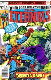 Cover Thumbnail for The Eternals (Marvel, 1976 series) #15 [35¢ Price Variant]