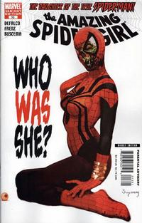 Cover Thumbnail for Amazing Spider-Girl (Marvel, 2006 series) #13 [Who Was She? [Zombie Variant Cover]]