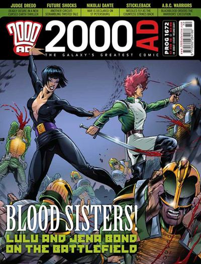 Cover for 2000 AD (Rebellion, 2001 series) #1672