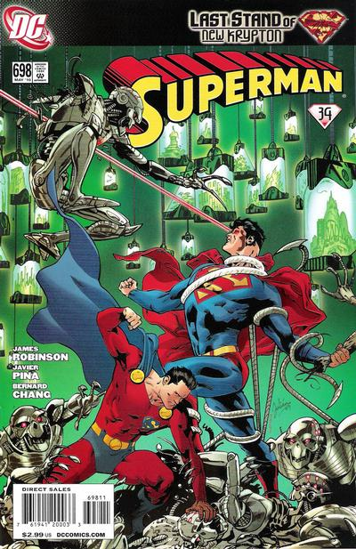 Cover for Superman (DC, 2006 series) #698