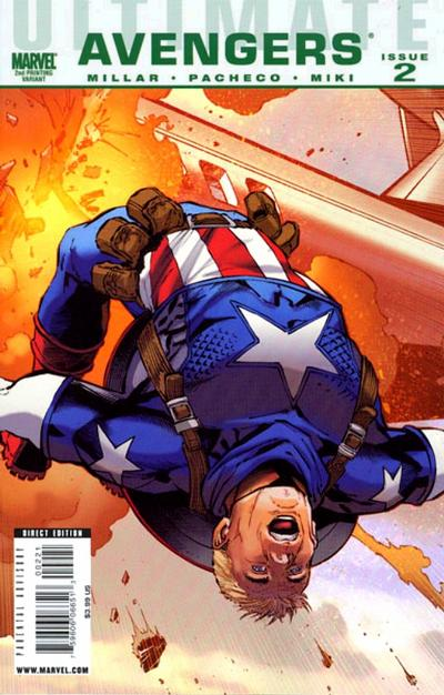 Cover for Ultimate Avengers (Marvel, 2009 series) #2 [Second Printing]