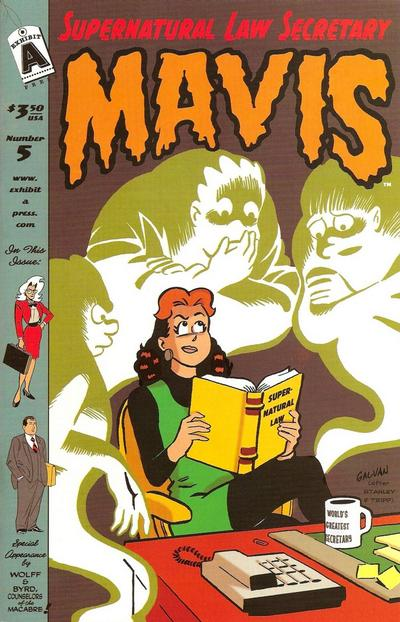 Cover for Supernatural Law Secretary Mavis (Exhibit A Press, 2008 series) #5
