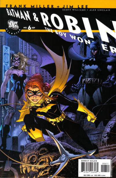 Cover for All Star Batman & Robin, the Boy Wonder (DC, 2005 series) #6 [Variant Cover (1 in 10)]