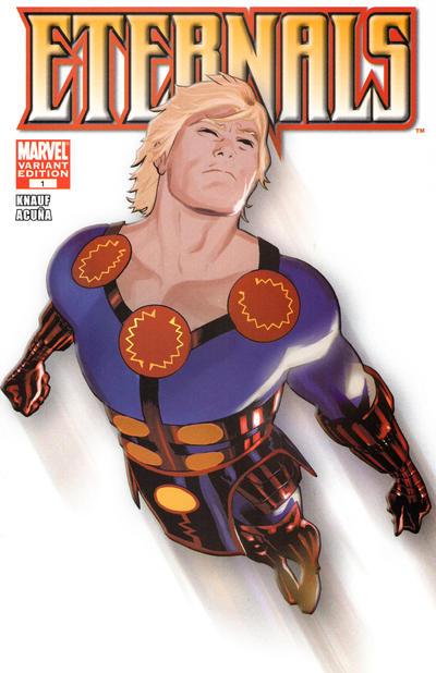Cover for Eternals (Marvel, 2008 series) #1 [2008 Diamond Retailer Summit Daniel Acuña White Variant]