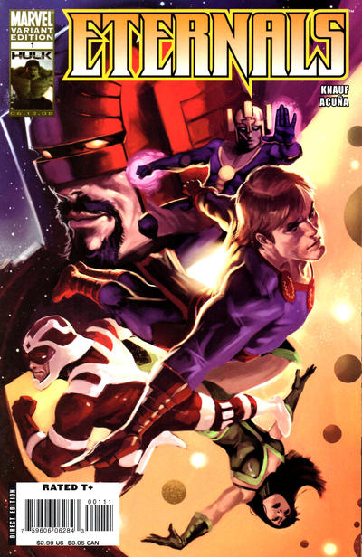 Cover for Eternals (Marvel, 2008 series) #1 [Incentive Marko Djurdjević Variant]