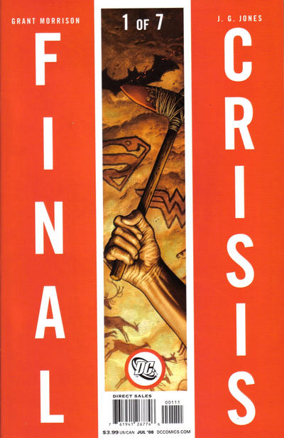 Cover for Final Crisis (DC, 2008 series) #1 [Sliver Cover]
