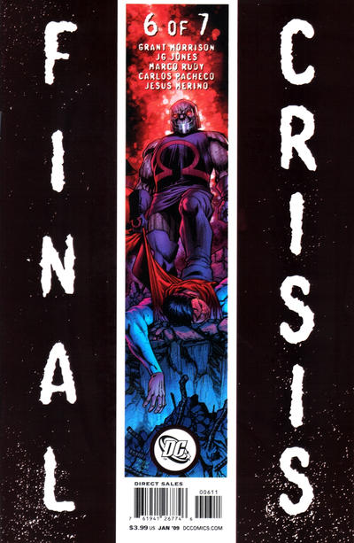 Cover for Final Crisis (DC, 2008 series) #6