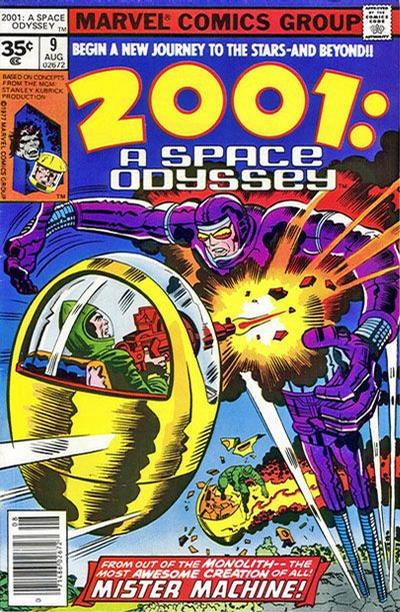 Cover for 2001: A Space Odyssey (Marvel, 1976 series) #9 [35 cent cover price variant]