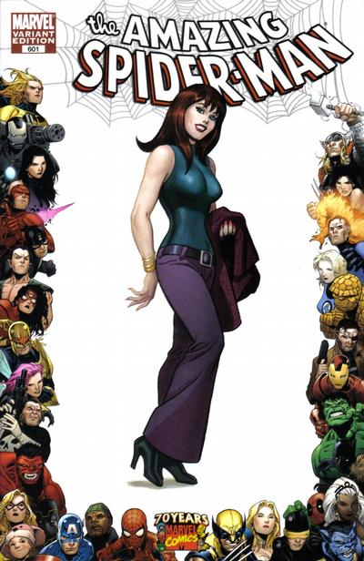Cover for The Amazing Spider-Man (Marvel, 1999 series) #601 [2nd Printing Variant Cover]