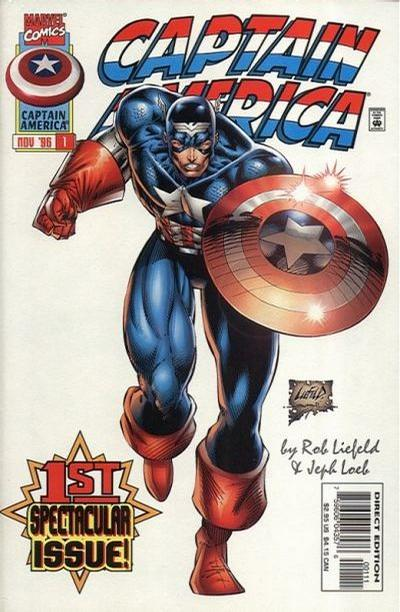 Cover for Captain America (Marvel, 1996 series) #1 [Variant Edition]