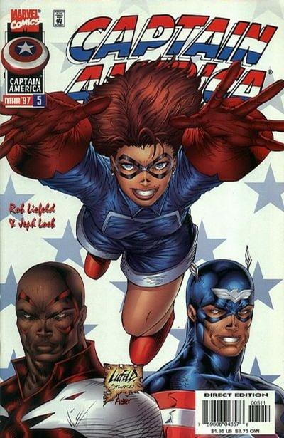Cover for Captain America (Marvel, 1996 series) #5 [Cover A]