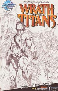 Cover Thumbnail for Wrath of the Titans (Bluewater / Storm / Stormfront / Tidalwave, 2007 series) #1 [Nadir Balen Sketch Cover]