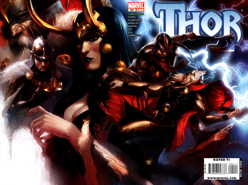 Cover for Thor (Marvel, 2007 series) #600