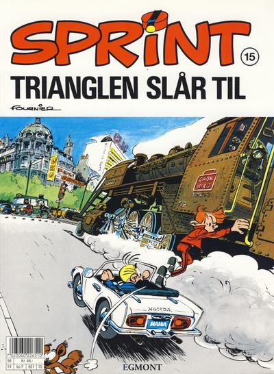 Cover for Sprint (Hjemmet / Egmont, 1998 series) #15 - Trianglen slår til